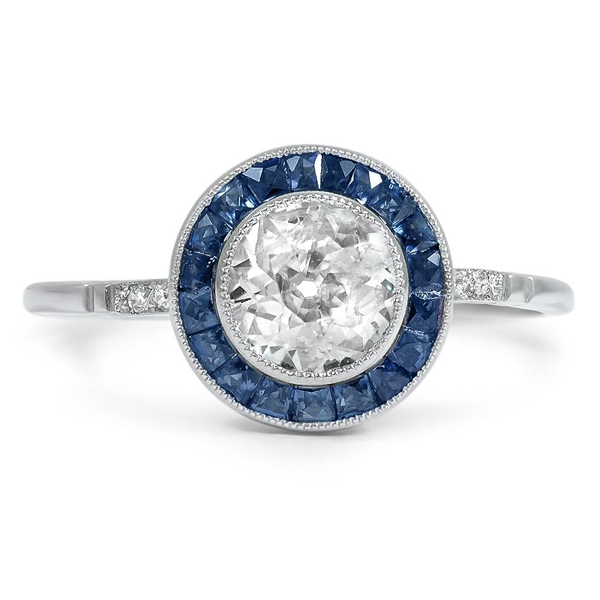 Modern Reproduction Diamond Vintage Ring