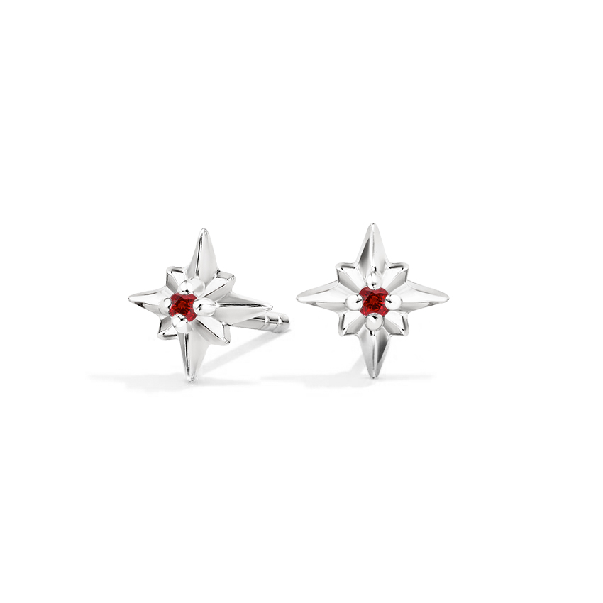Lab Ruby Earrings