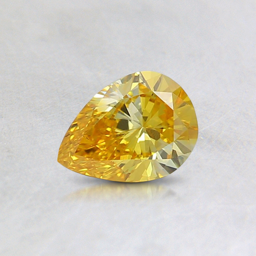 0.34 Ct. Fancy Vivid Orangy Yellow Pear Lab Created Diamond