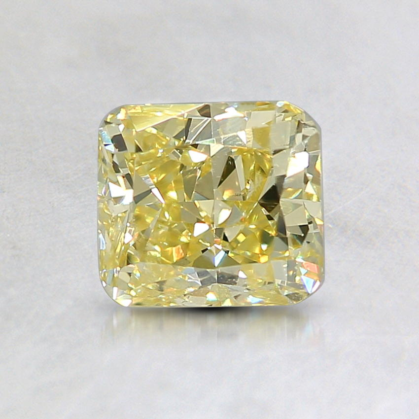 0.81 Ct. Natural Fancy Intense Yellow Cushion Diamond