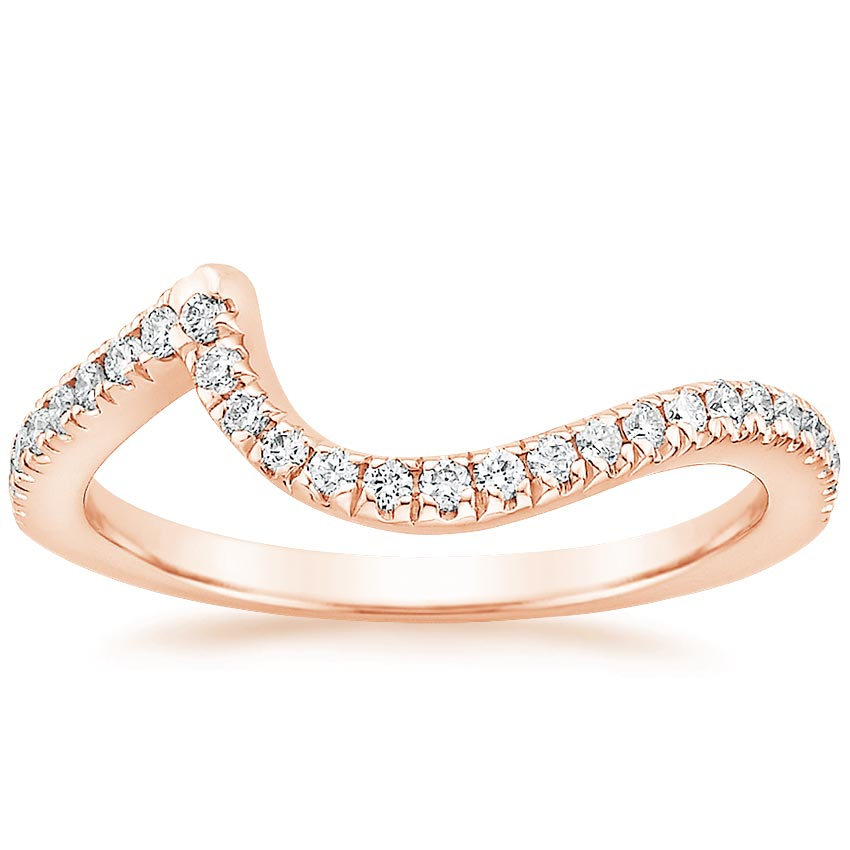 Rose Gold Venus Contoured Diamond Ring
