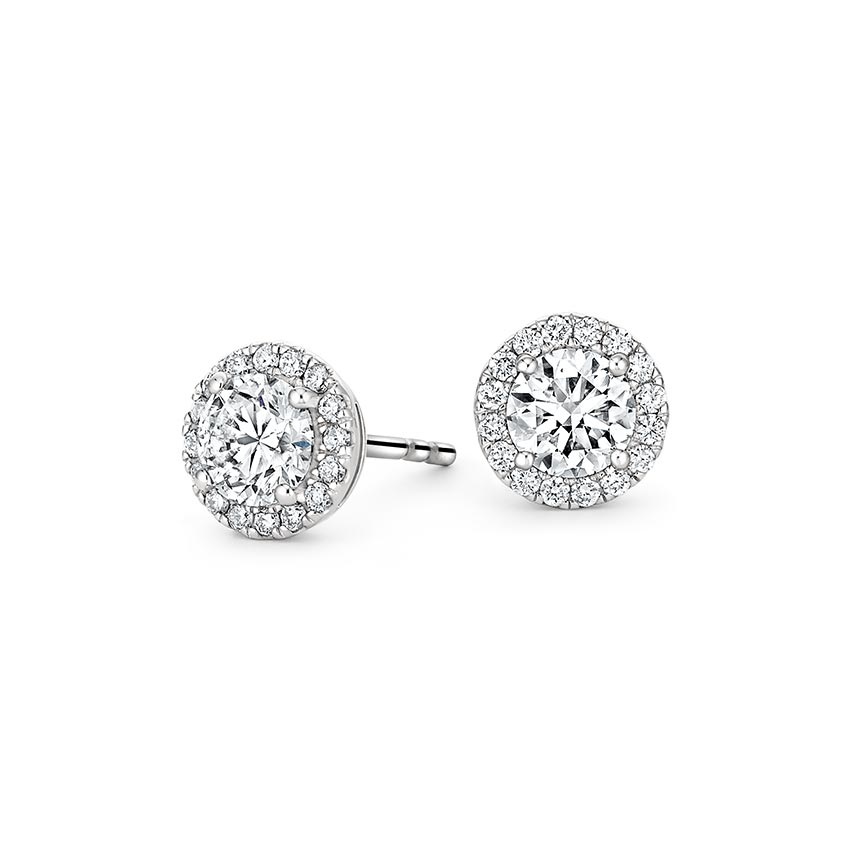 Top Twenty Anniversary Gifts - LUXE DIAMOND HALO EARRINGS (1 1/10 CT. TW.)
