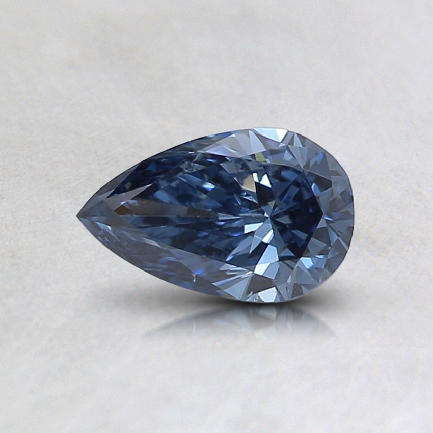 0.43 Ct. Fancy Deep Blue Pear Lab Created Diamond