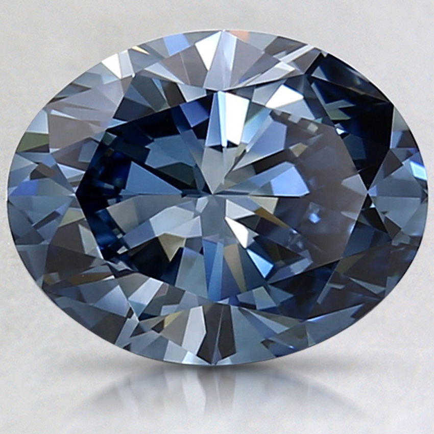 2.30 Ct. Fancy Deep Blue Oval Lab Created Diamond