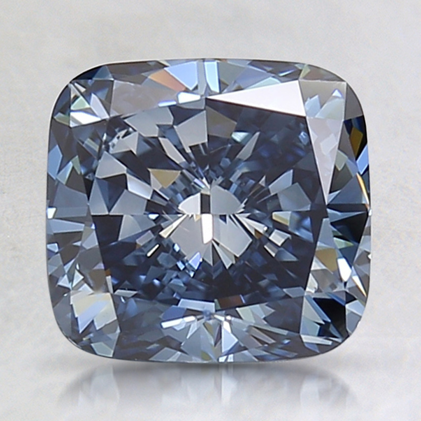 2.31 Ct. Fancy Deep Blue Cushion Lab Created Diamond