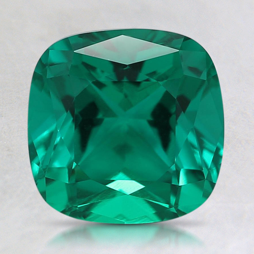 8mm Cushion Lab Created Emerald