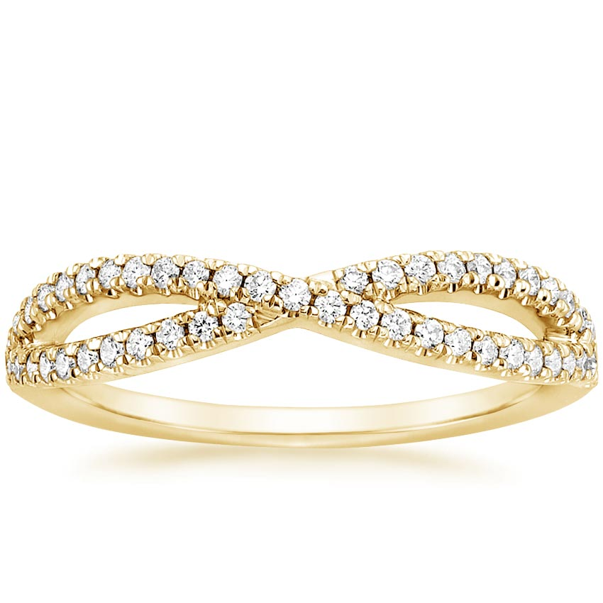 Yellow Gold Entwined Diamond Ring (1/4 ct. tw.)