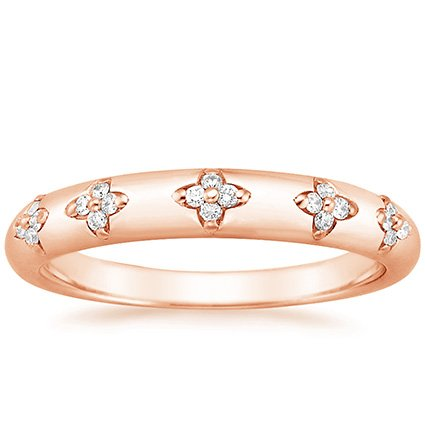 14K Rose Gold Blossom Ring, top view