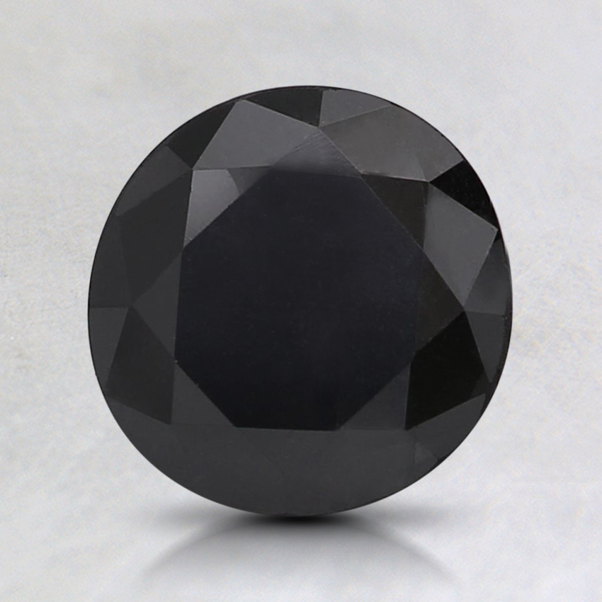 1.39 Ct. Fancy Black Round Colored Diamond