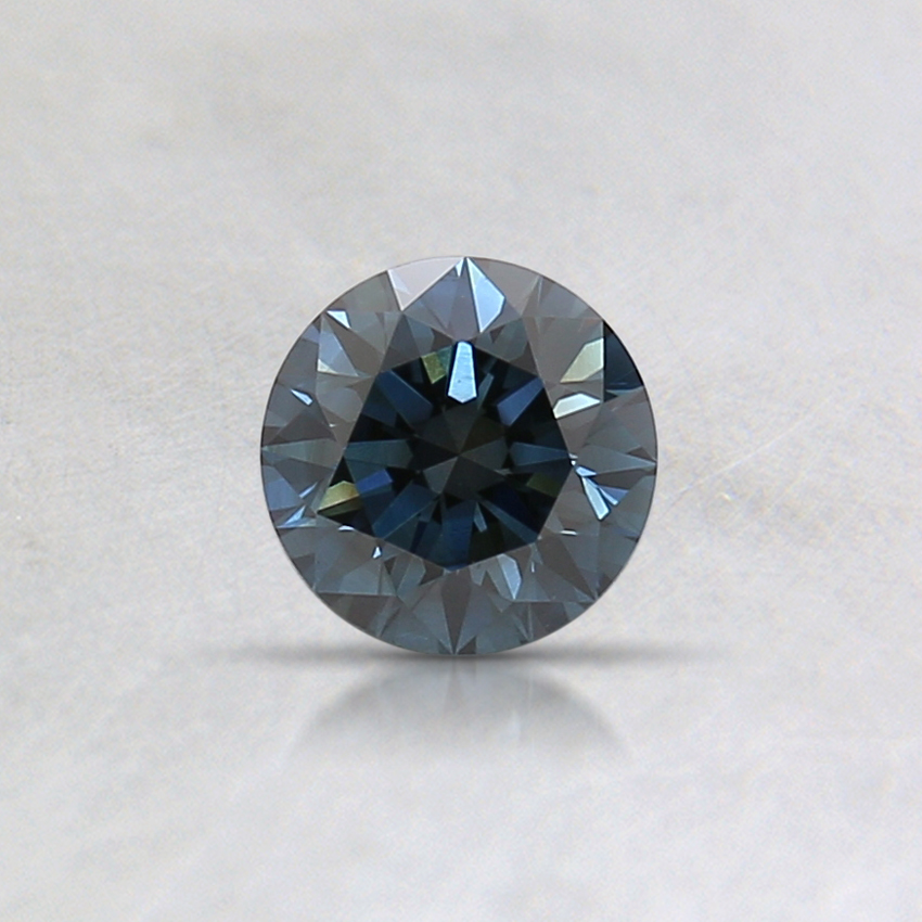 0.31 Ct. Fancy Dark Gray-Blue Round Lab Created Diamond