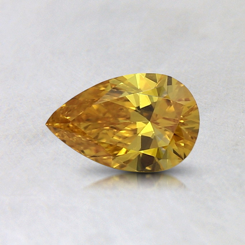 0.40 Ct. Fancy Vivid Orange-Yellow Pear Lab Created Diamond