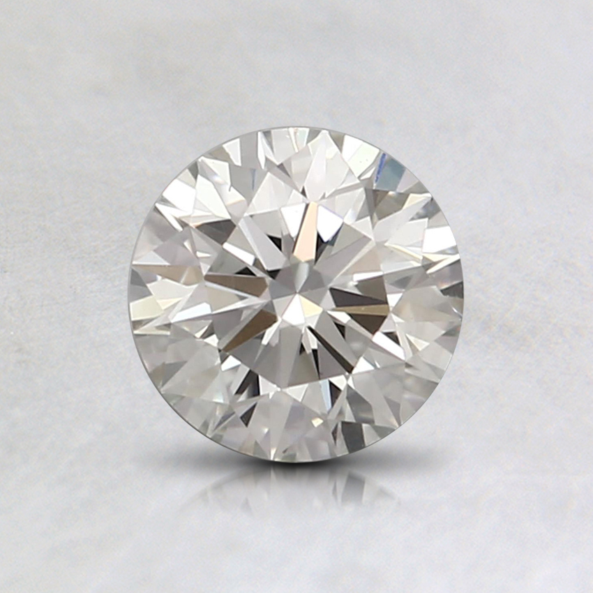 0.72 Ct. Light Yellowish Green Round Lab Created Diamond