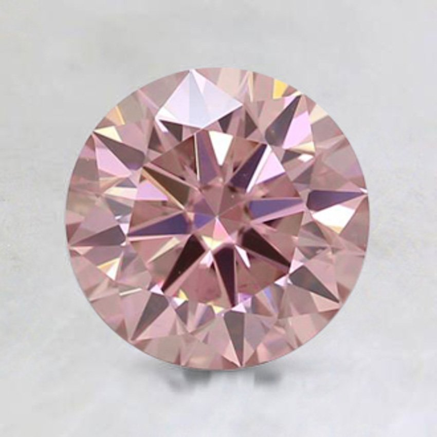 7mm Premium Pink Round Moissanite