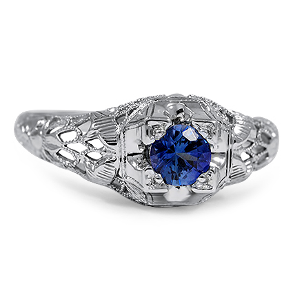 The Calista Ring, top view