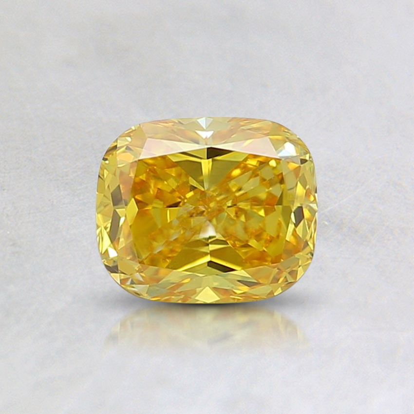 0.55 Ct. Fancy Vivid Yellow Cushion Lab Created Diamond