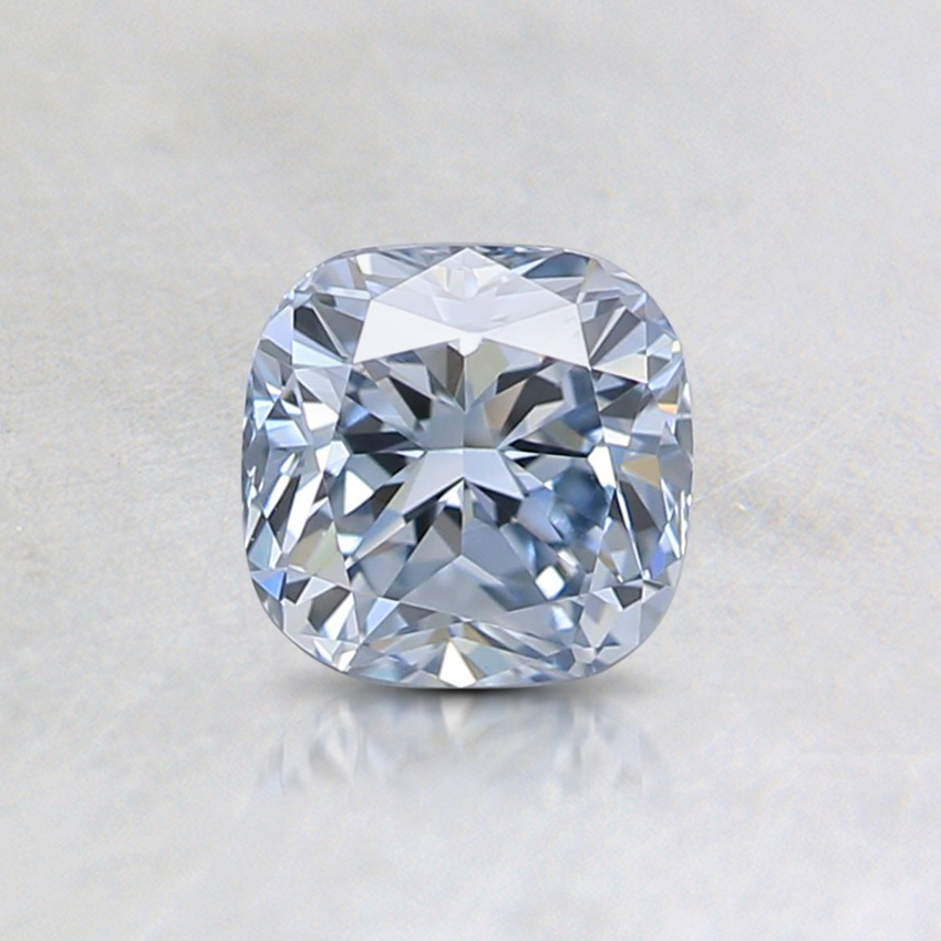0.63 Ct. Light Blue Cushion Lab Created Diamond