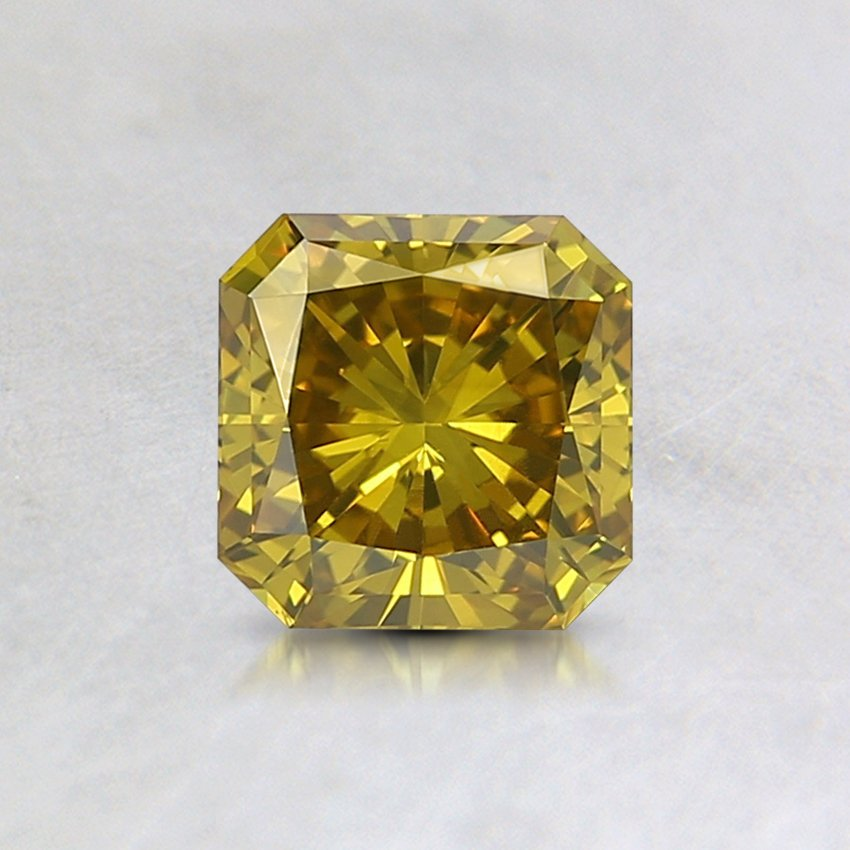 0.64 Ct. Lab Created Fancy Intense Greenish Yellow Radiant Diamond