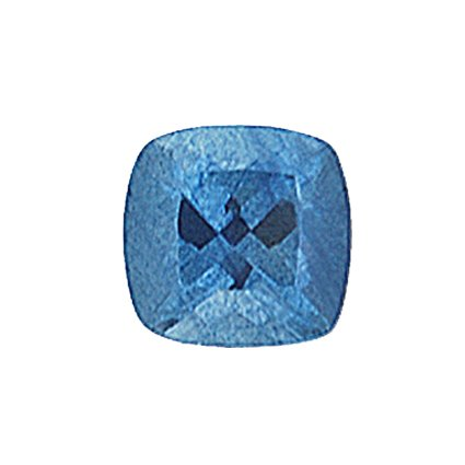 5mm Blue Cushion Sapphire, top view