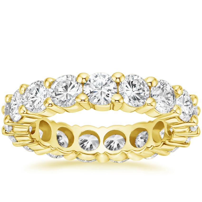 18K Yellow Gold Diamond Eternity Ring (4 ct. tw.), top view