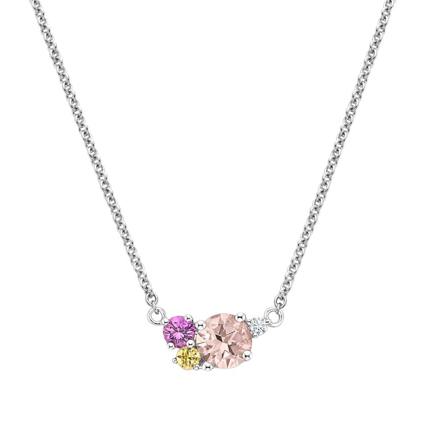 Gemstone Cluster Necklace