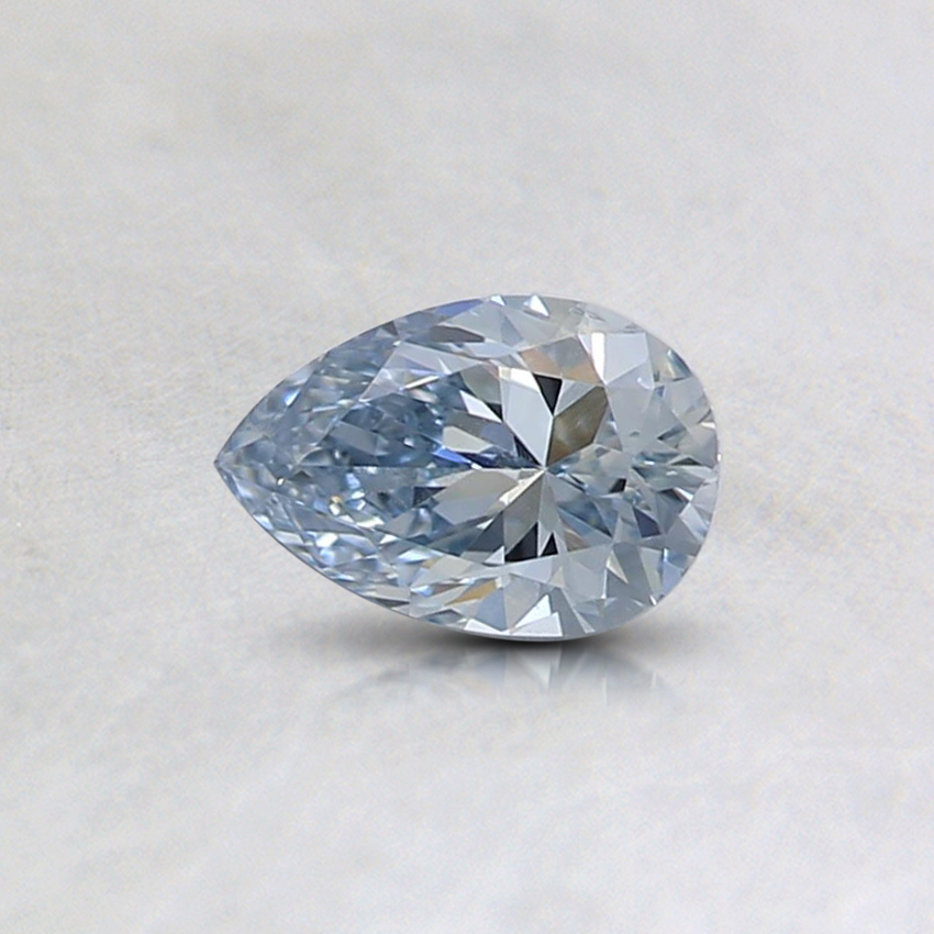 0.32 Ct. Fancy Light Blue Pear Lab Created Diamond