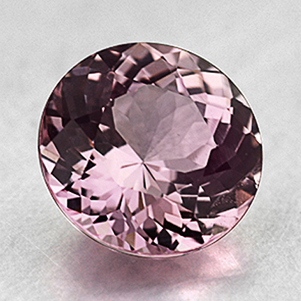 7mm Unheated Light Pink Round Sapphire