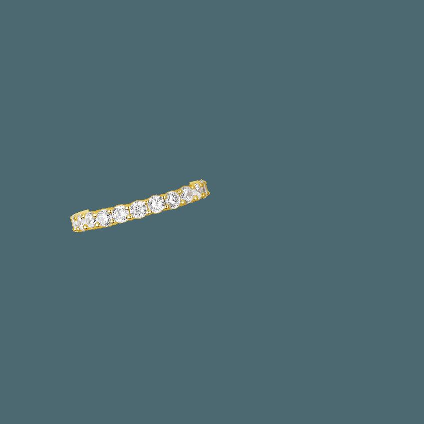 diamond eternity ring 2 ct tw in 18k yellow gold