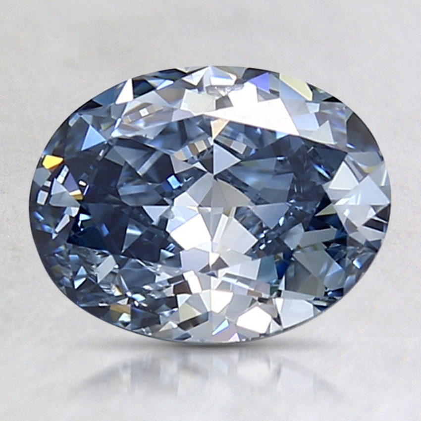 1.50 Ct. Fancy Intense Blue Oval Lab Created Diamond
