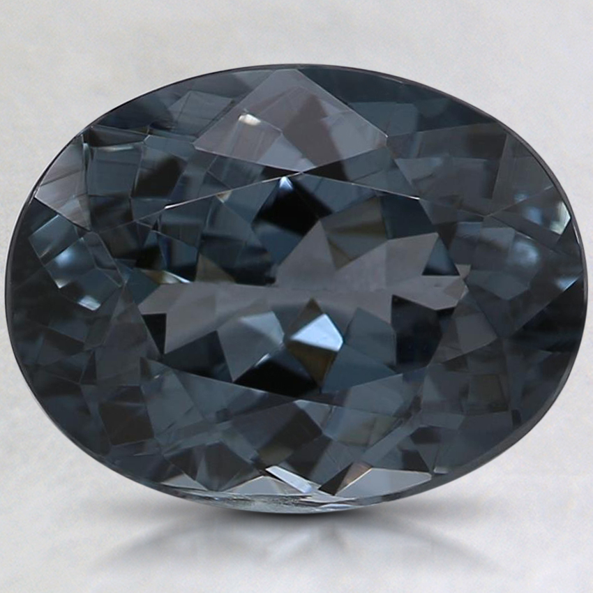 10.1x7.8mm Gray Oval Spinel