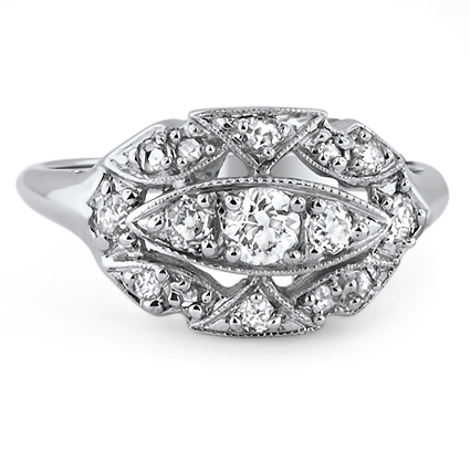 The Audrey Ring, top view