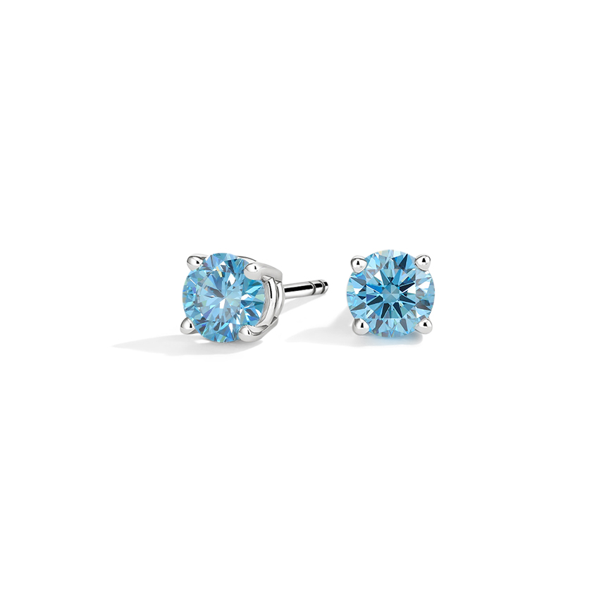 Blue Lab Created Stud Earrings