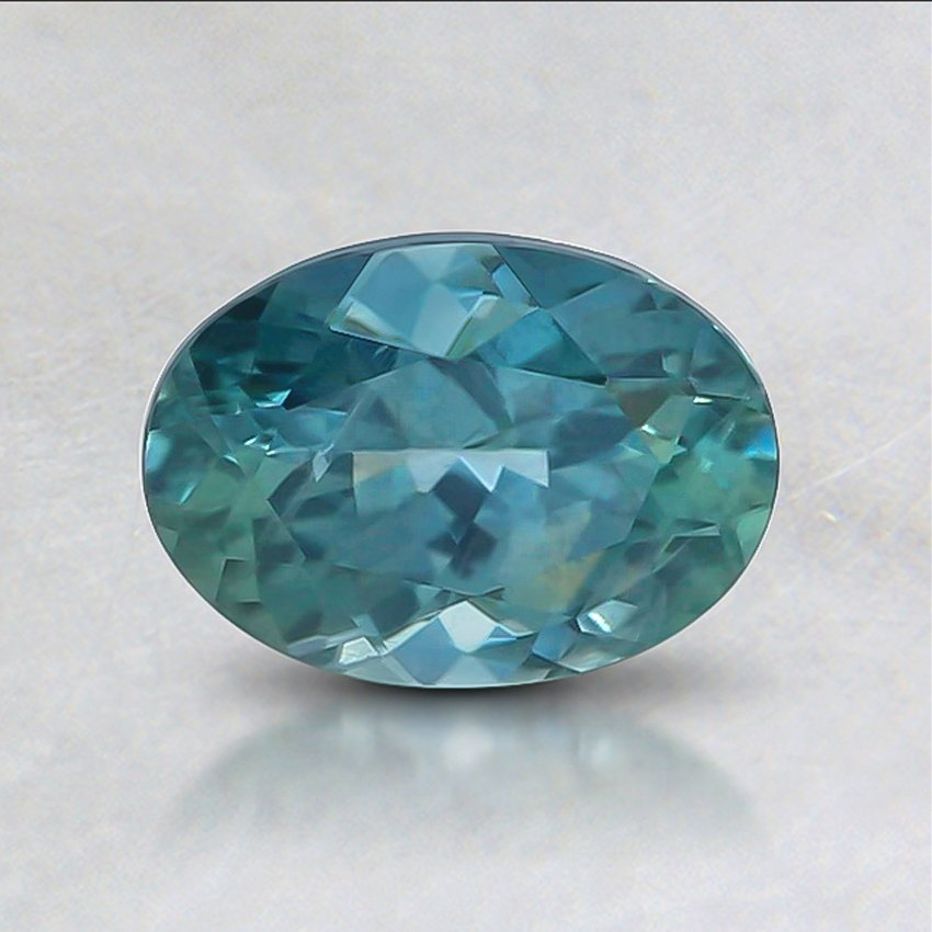 7x5.1mm Teal Oval Sapphire