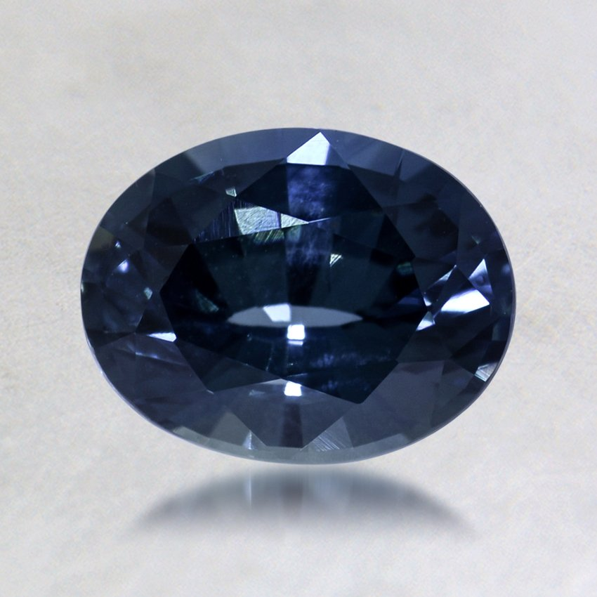 7.5x5.8mm Blue Oval Sapphire, top view