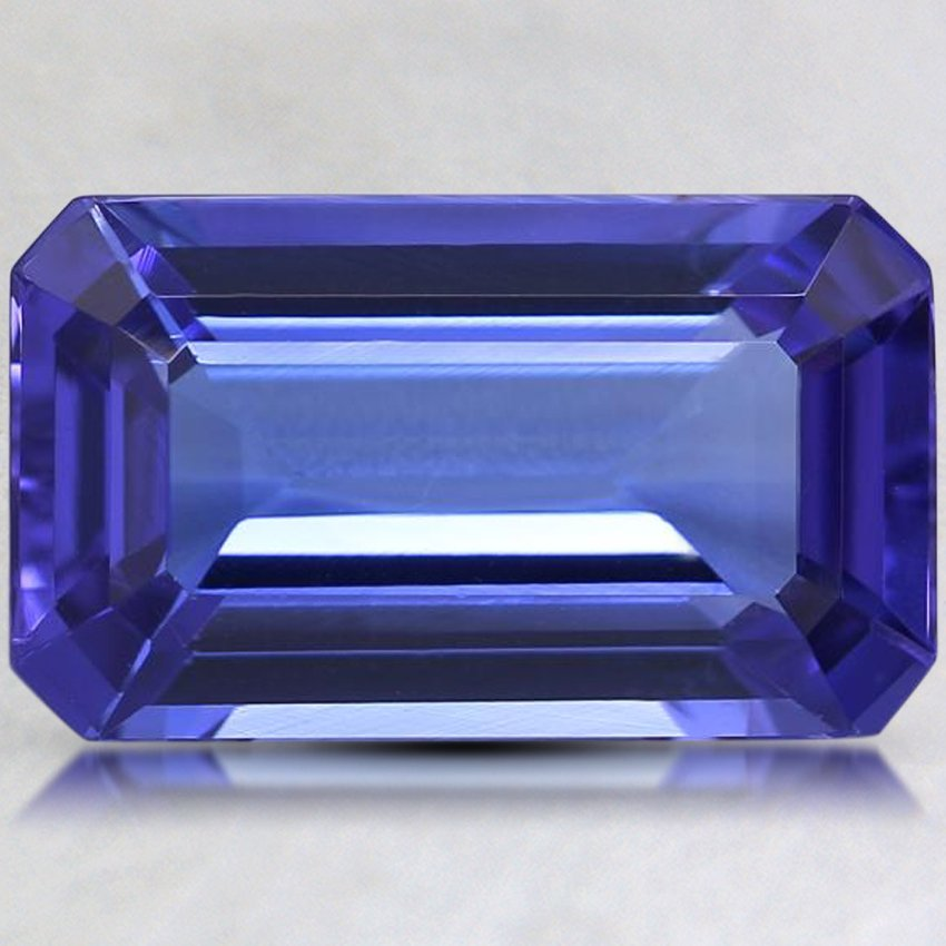 12.5x7.5mm Premium Purple Emerald Cut Tanzanite
