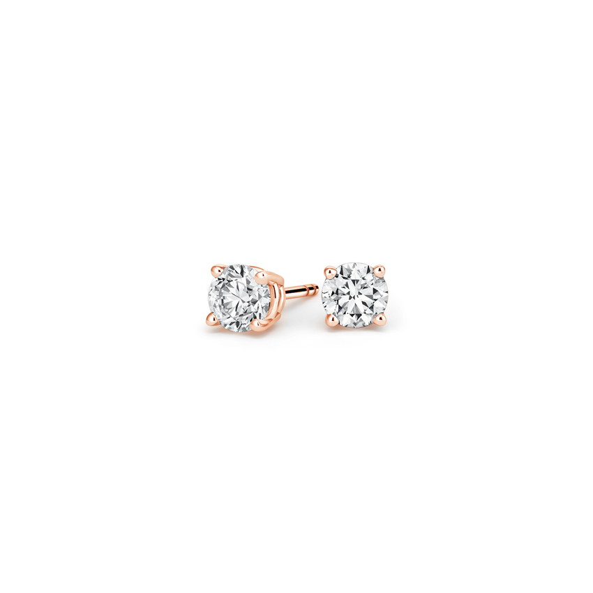 Round Diamond Stud Earrings (1/4 ct. tw.) in 14K Rose Gold