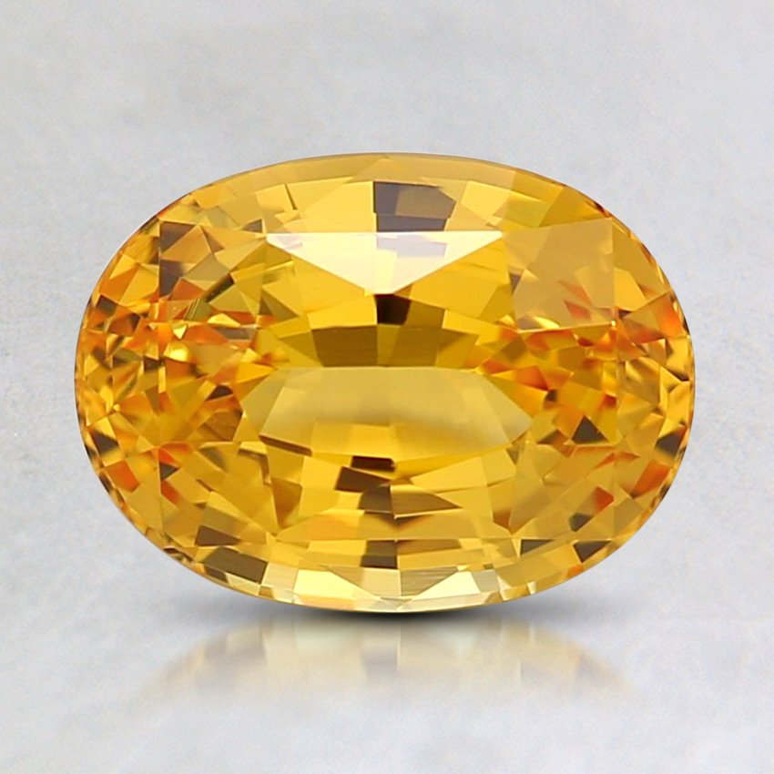 8.2X6.1mm Yellow Oval Sapphire