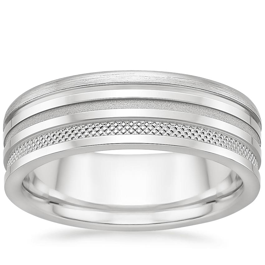 Jagger Wedding Ring in Platinum