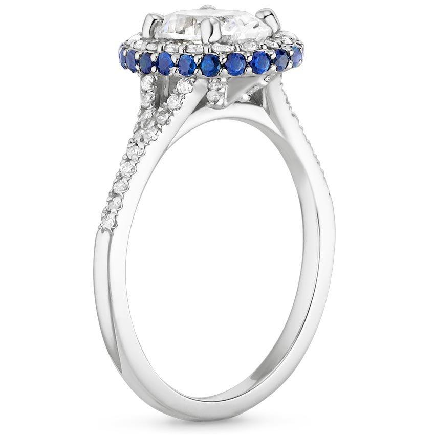 Sapphire Halo Engagement Ring Circa Brilliant Earth
