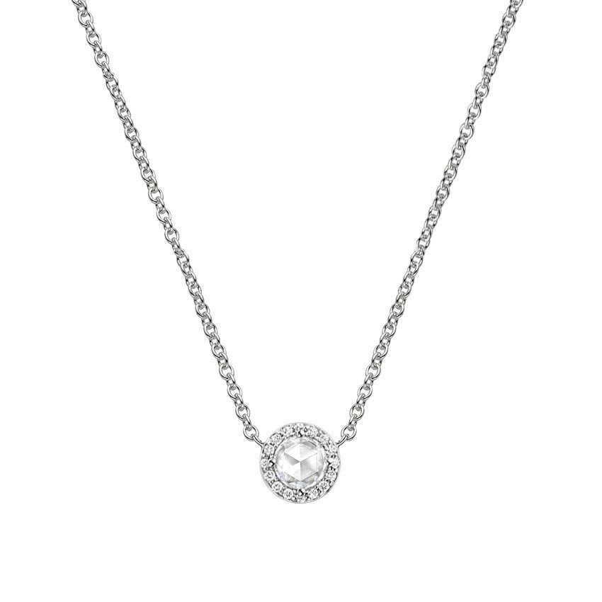 Rose cut diamond halo necklace brilliant earth rose cut diamond halo necklace aloadofball Gallery