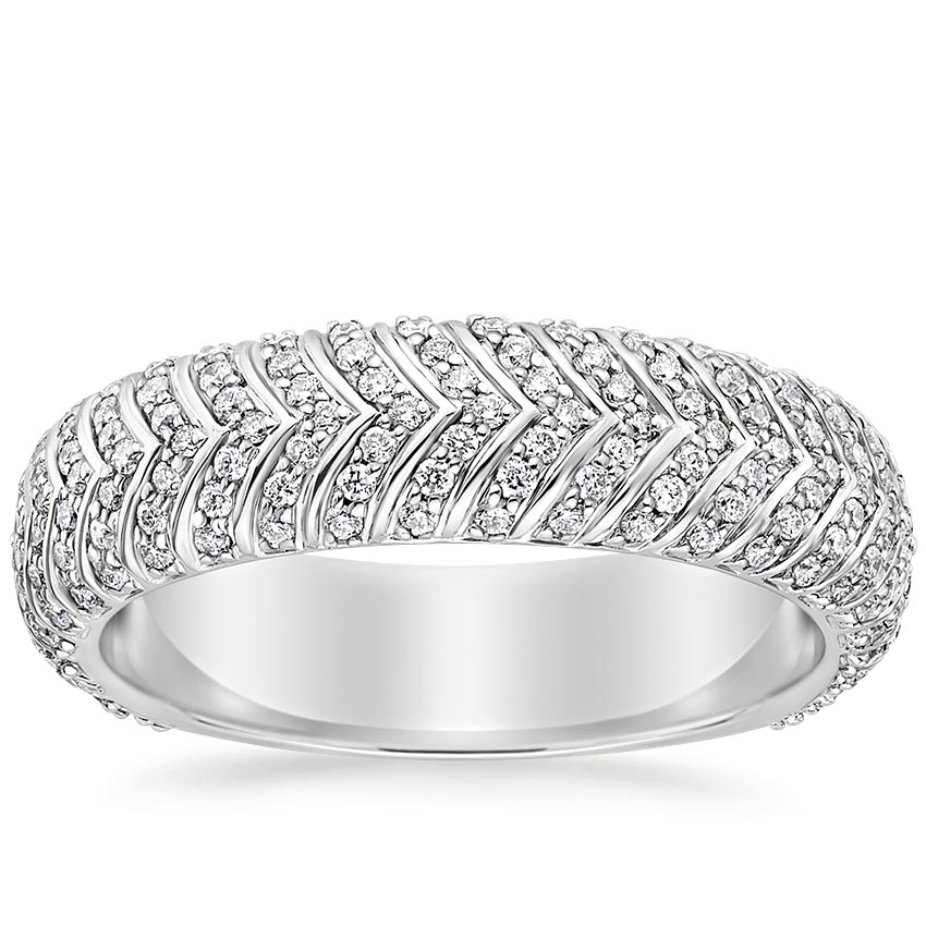 Diamond Chevron Wedding Ring