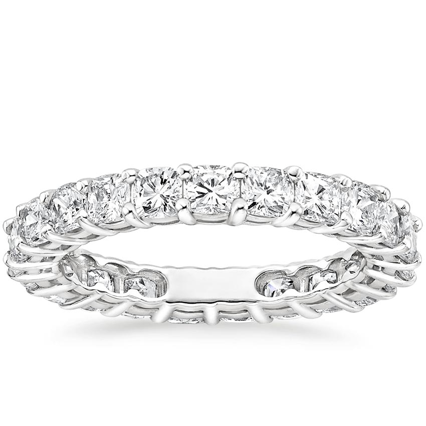 Cushion Eternity Diamond Ring (2 ct. tw.) in 18K White Gold
