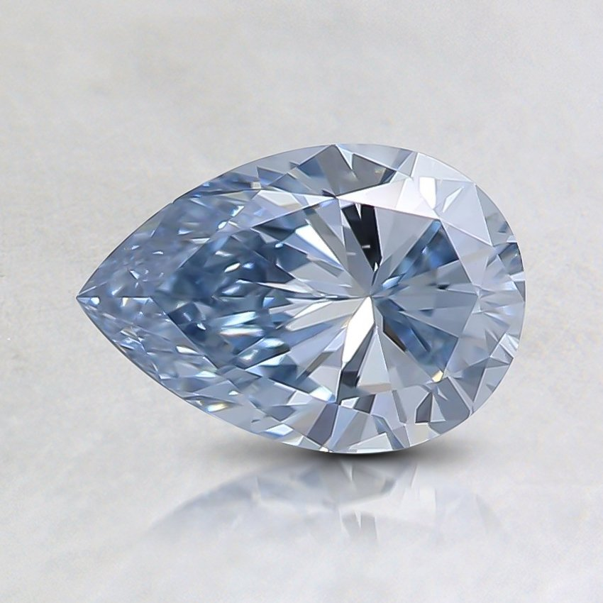 0.72 Ct. Fancy Blue Pear Lab Created Diamond