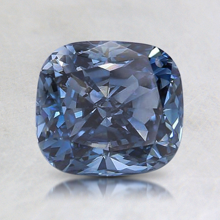 1.37 ct. Lab Created Fancy Vivid Blue Cushion Diamond