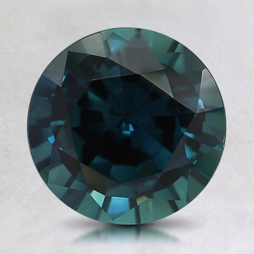 8mm Teal Round Sapphire