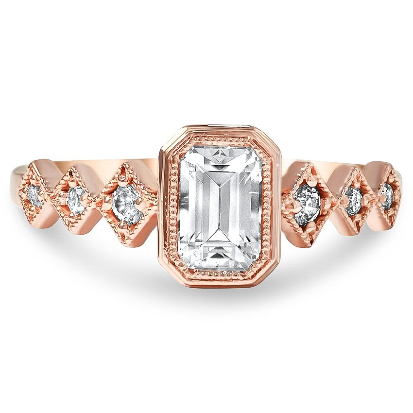 Top Twenty Custom Rings - GEOMETRIC EMERALD CUT DIAMOND RING