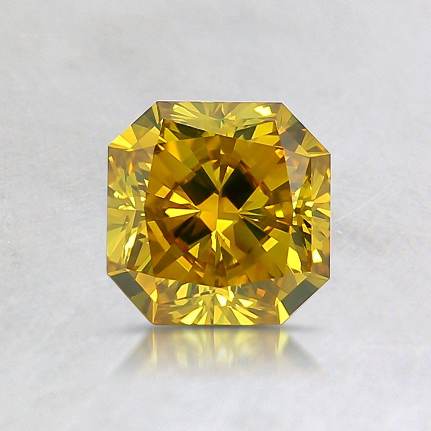 0.71 Ct. Fancy Intense Yellow Radiant Lab Created Diamond