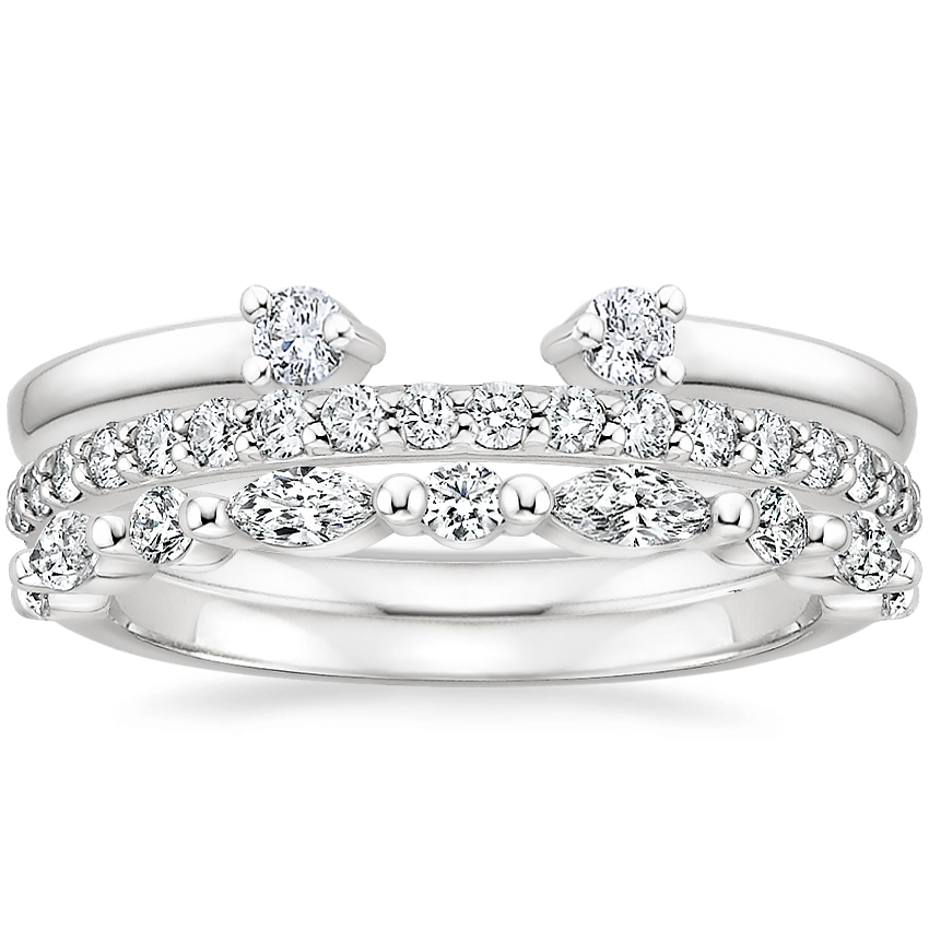 Tres Diamond Ring Stack (3/4 ct. tw.) in Platinum
