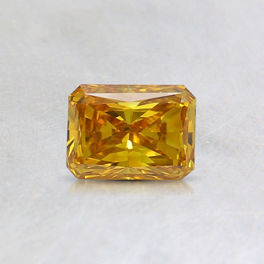0.40 Ct. Fancy Vivid Yellow Radiant Lab Created Diamond