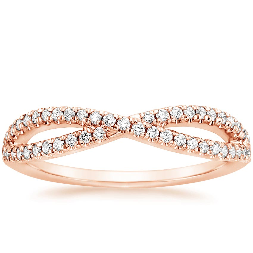 Rose Gold Entwined Diamond Ring (1/4 ct. tw.)