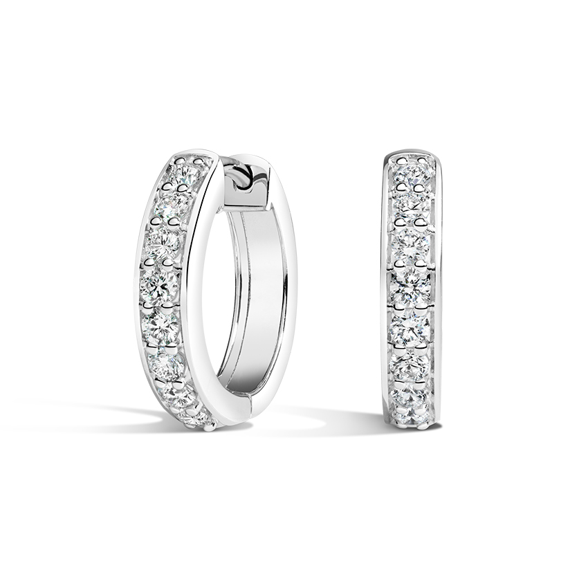 Luxe Diamond Huggie Earrings (1/2 ct. tw.) in 18K White Gold